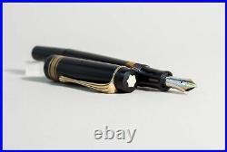 134 MONTBLANC 1948'er MEISTERSTUCK Kolben Füller mit orig + M 585 Gold Feder