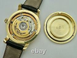 18K Montblanc Meisterstuck 7013 Dual Time Automatic 24 Hour Time 38 MM