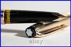 1960er MONTBLANC N° 92 SOLID 585 GOLD MEISTERSTUCK Kolben Füller Feine 750 Feder
