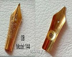 1x MontbIanc Meisterstuck 144 Fountain Nib 14k Gold OB New old Stock Old Model