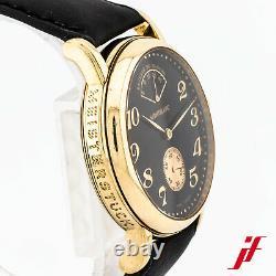 Armbanduhr Montblanc Meisterstück Gangreserve 7007 750/18K Gelbgold Leder 36 mm