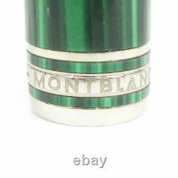Auth Montblanc Meisterstuck 146 Nikolai I Malachite Fountain Pen Platinum G1627