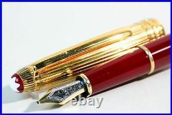 Burgundy Red Gold Vermeil 925 Silver Cap MONTBLANC MEISTERSTUCK 144 18K BB nib