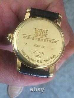 Excellent Beautiful Montblanc Meisterstuck 18k Solid Gold Automatic Very Clean