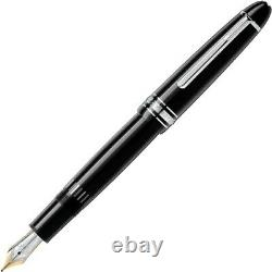 Fountain pen Montblanc Meisterstuck 2850 146 F black and platinum finish resin