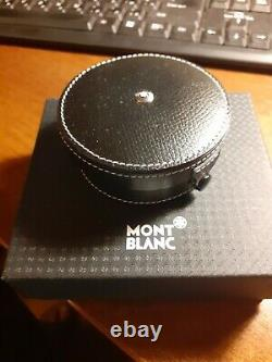 MONT BLANC MEISTERSTUCK Travel Clock Gold Plated Swiss Made 5707