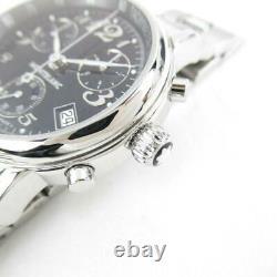MONT BLANC Meistersteck Chrono Watch Men's 7038 Quartz Black Stainless steel