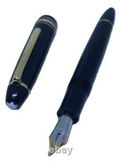 MONT BLANC Meisterstuck Le Grand 146 Black Gold Fountain Pen Nib B 14K