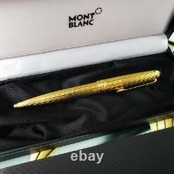 MONTBLANC 164V Solitaire Classic Vermeil Gold Pinstripe Ballpoint Pen