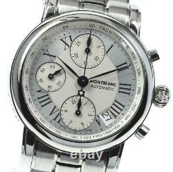 MONTBLANC 7016 Chronograph Date Silver Dial Automatic Men's Watch 614358