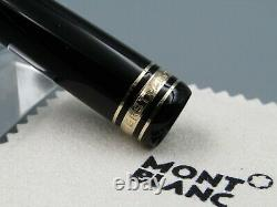 MONTBLANC FOUNTAIN Pen Meisterstuck 146 Cap PART With BLACK & Gold 1990-2013 NEW