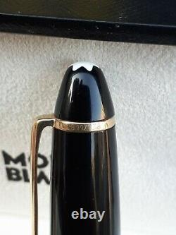 MONTBLANC MEISTERSTUCK 146 FOUNTAIN PEN GOLD BLACK 4810 14K NIB withCASE EXCELLENT
