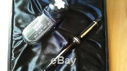 MONTBLANC MEISTERSTUCK 149 14K Solid Gold F. P. With Ink Bottle & Large Box New