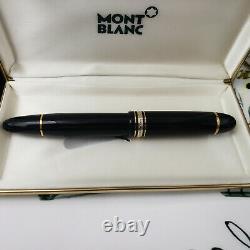 MONTBLANC MEISTERSTUCK 149 Black Gold Fountain Pen 14C Medium Nib MINT