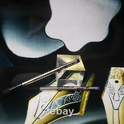 MONTBLANC MEISTERSTUCK 163 Black Gold Classic Rollerball Pen 12890 MINT