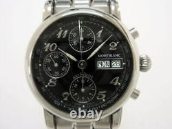 MONTBLANC MEISTERSTUCK 7016 Automatic Chronograph Black Good Condition with Box