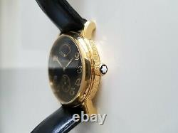 MONTBLANC MEISTERSTUCK CC17507/7003 Black Gold Plated Unisex Watch