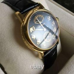 MONTBLANC MEISTERSTUCK CC32487 Automatic 7003 Black × Gold Rare Good Condition