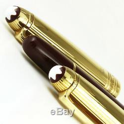 MONTBLANC MEISTERSTUCK CLASSIQUE 18k GOLD DOUE & BORDEAUX PENCIL, ROLLERBALL SET