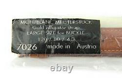 MONTBLANC MEISTERSTUCK GOLDEN 100% ALLIGATOR STRAP BAND 115/76/19 mm 7026 #8 NEW