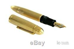 MONTBLANC MEISTERSTUCK N. 149 18K SOLID 750 GOLD FOUNTAIN PEN/GOLD STAR 1950s