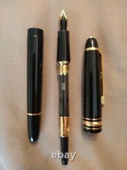 MONTBLANC Meister Stuck 145 Black Resin 14k Gold Nib Fountain Pen