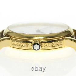MONTBLANC Meistersteck 7005 Date white Dial Quartz Boy's Watch 640435