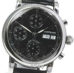 MONTBLANC Meistersteck 7016 Chronograph black Dial Automatic Men's Watch 605760