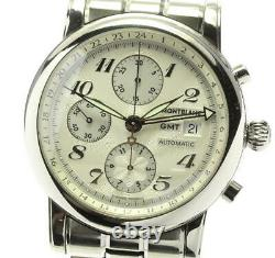 MONTBLANC Meistersteck 7067 Chronograph Silver Dial Automatic Men's Watch 555834