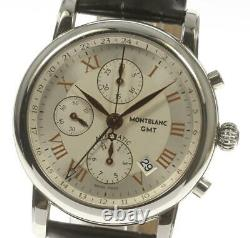 MONTBLANC Meistersteck 7067 GMT chronograph Automatic Men's Watch 552277