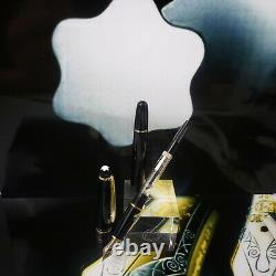 MONTBLANC Meisterstuck 144 Black Gold Classic Fountain Pen 14K Medium Nib NOS