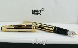 MONTBLANC Meisterstuck 146 Le Grand Gold & Black Fountain Pen 35975 New