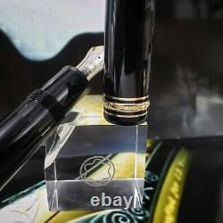 MONTBLANC Meisterstuck 149 Fountain Pen Black Gold 14C EF Nib MINT