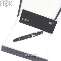 MONTBLANC Meisterstuck 149 Platinum coating Nib 18K gold F Fountain Pen 148mm