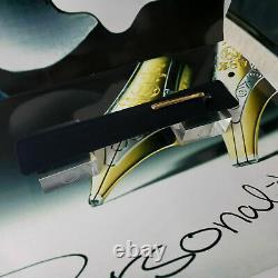 MONTBLANC Meisterstuck 163 Classic Black Gold Rollerball Pen MINT