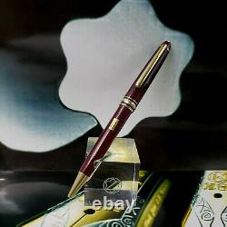 MONTBLANC Meisterstuck 164 Classic Burgundy Red Gold Ballpoint Pen MINT