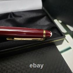 MONTBLANC Meisterstuck 164R Burgundy Red Gold Classic Ballpoint Pen NEW