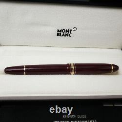 MONTBLANC Meisterstuck 166 Legrand Burgundy Red Gold Highlighter Pen MINT