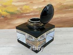 MONTBLANC Meisterstuck Crystal Black & Gold Inkwell, NOS