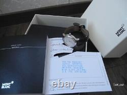 MONTBLANC Meisterstück SILVER STAR DATE 36mm AUTOMATIC Men's WATCH SET 7042 MINT