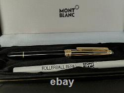 MONTBLANC Meisterstuck Solitaire Doue Gold Plated Classique 163 Rollerball Pen