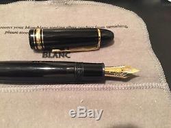 Mont Blanc Meisterstuck 149 Fountain Pen (Model 10573 Extra Fine Gold Nib)