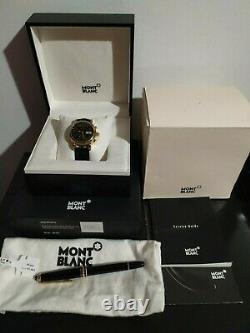 Mont Blanc Meisterstuck 7016 Automatic 18k Gold + Mont Blanc Meisterstuck Pen