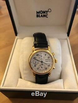 Mont Blanc Meisterstuck 7016 Automatic 18k Gold Plated Wristwatch