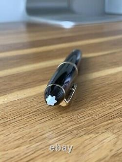 Mont Blanc Meisterstuck Fountain Pen 146 Black Resin And Gold With Inks