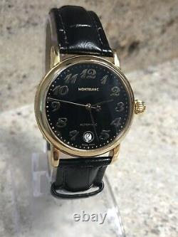 MontBlanc 36mm Meisterstuck 18k Gold Plated Ref. 7004 Mens Automatic Watch