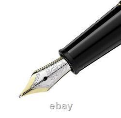 Montblanc 145 Meisterstuck Classique Platinum Fountain Pen Medium Gold 106522