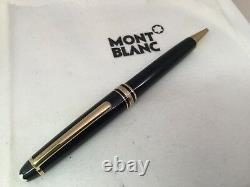 Montblanc Classique Meisterstuck Ballpoint Pen Black with Gold Trim 164 10883
