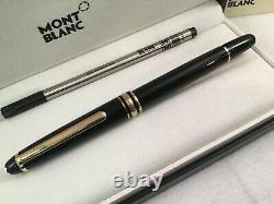 Montblanc Classique Meisterstuck Black w Gold Trim Rollerball Pen 163 12890 New