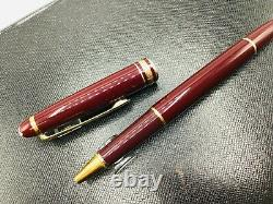 Montblanc Classique Meisterstuck Bordeaux Burgundy with Gold Rollerball Pen 163R